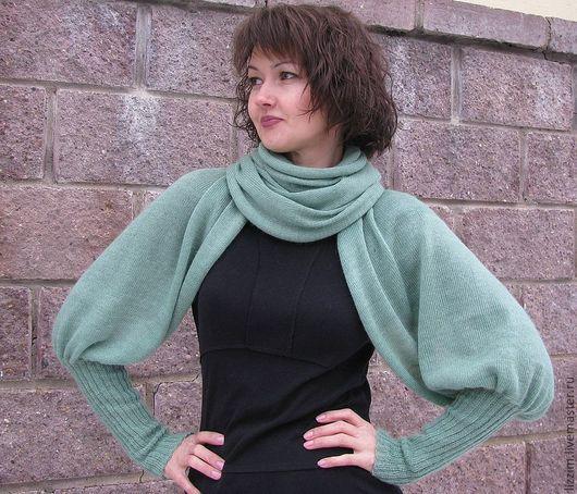 """Кофты и свитера ручной работы. Ярмарка Мастеров - ручная работа. Купить Свитер-шарф """"Виолетта"""". Handmade. Однотонный, женский шарф"""