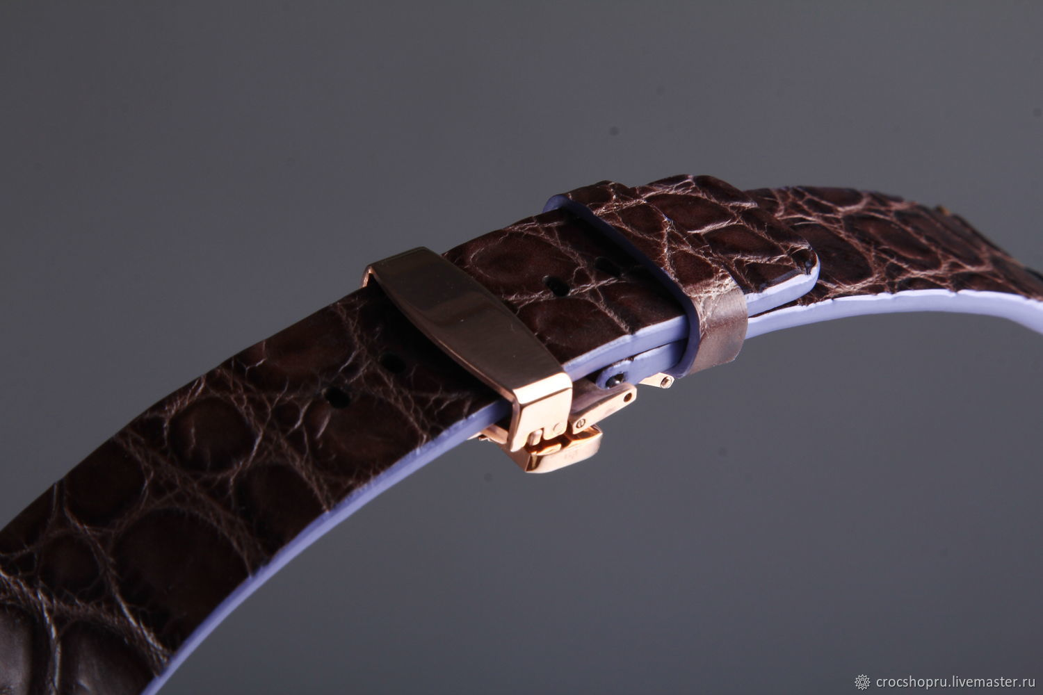 Crocodile leather watchband for Apple Watch IMA0470KN1, Watch Straps, Moscow,  Фото №1