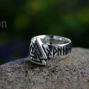 Украшения handmade. Livemaster - original item Will valknut ring. Handmade.