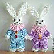 Куклы и игрушки ручной работы. Ярмарка Мастеров - ручная работа вязаная игрушка заяц-мазаец, зайчик для детей. Handmade.