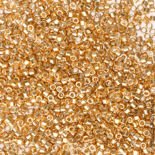 Для украшений ручной работы. Ярмарка Мастеров - ручная работа. Купить MIYUKI Delica Galv. Yellow Gold Dyed DB 0410 бисер Миюки Делика. Handmade.