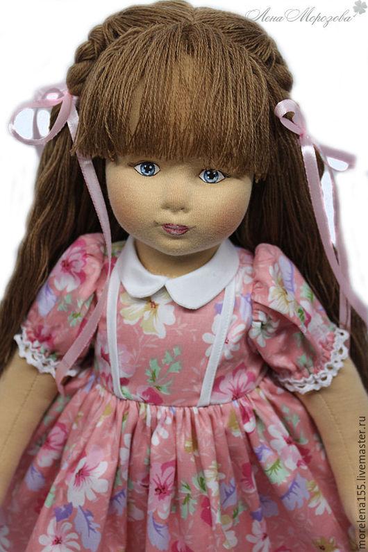Коллекционные куклы ручной работы. Ярмарка Мастеров - ручная работа. Купить Текстильная кукла  Алина. Handmade. Бежевый, текстильная кукла