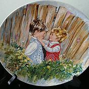 Винтажные тарелки ручной работы. Ярмарка Мастеров - ручная работа Декоративная тарелка фирмы Wedgwood  Be my friend. Handmade.