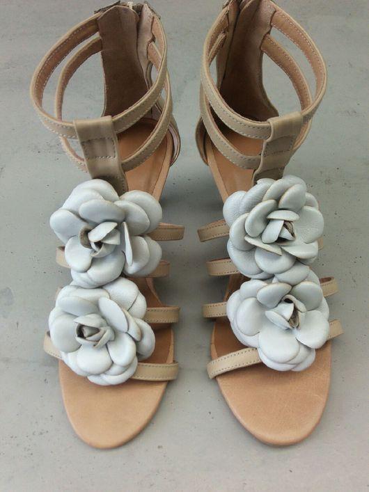 Обувь ручной работы. Ярмарка Мастеров - ручная работа. Купить Босоножки женские. Handmade. Босоножки, женские босоножки, босоножки с цветами