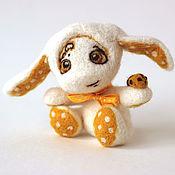 Куклы и игрушки ручной работы. Ярмарка Мастеров - ручная работа Шерстяной зайка. Handmade.