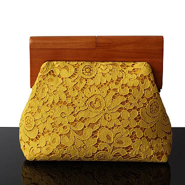 Bags and accessories handmade. Livemaster - original item Large lace clutch bag on a wooden frame. Handmade.