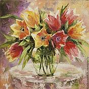 Картины и панно handmade. Livemaster - original item Tulips. Handmade.