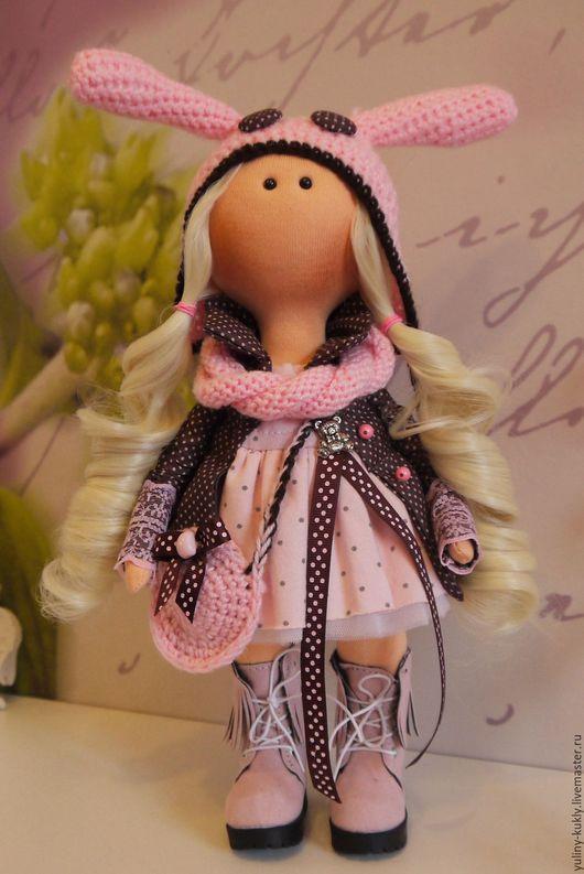 Коллекционные куклы ручной работы. Ярмарка Мастеров - ручная работа. Купить Текстильная куколка-малышка Эн. Handmade. Бледно-розовый