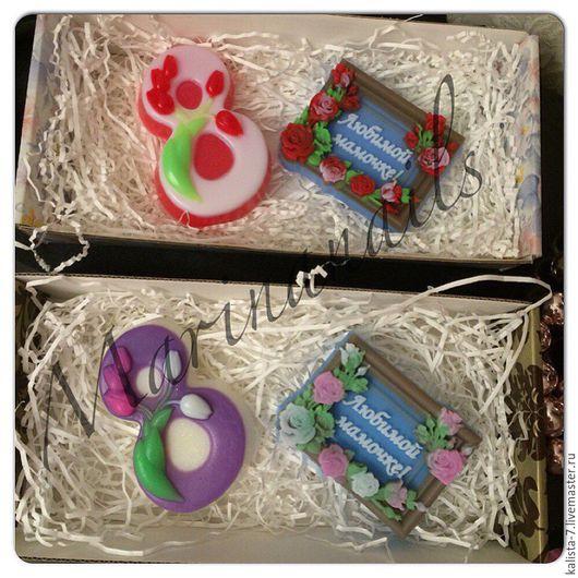 Мыло ручной работы. Ярмарка Мастеров - ручная работа. Купить Подарок на 8 марта, подарочный набор, мыло ручной работы, 8 марта. Handmade.