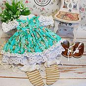 Куклы и игрушки handmade. Livemaster - original item Clothes for dolls. Kit stitched doll Dasha.. Handmade.