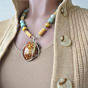 Украшения handmade. Livemaster - original item DISTANT SHORES, a necklace with a pendant on the necklace. Handmade.