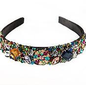 Украшения handmade. Livemaster - original item tiara - headband with stones and beads. Handmade.