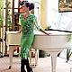 """Костюмы ручной работы. костюм из шерсти и шелка  """"Romance"""". KiEra. Ярмарка Мастеров. Нежно-зеленый, тонкий войлок, шёлковые волокна"""