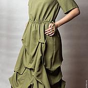 Одежда ручной работы. Ярмарка Мастеров - ручная работа Платье с защипами на юбке.. Handmade.