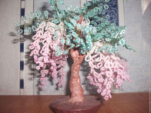 Деревья ручной работы. Ярмарка Мастеров - ручная работа. Купить Глициния. Handmade. Дерево из бисера, сувениры ручной работы
