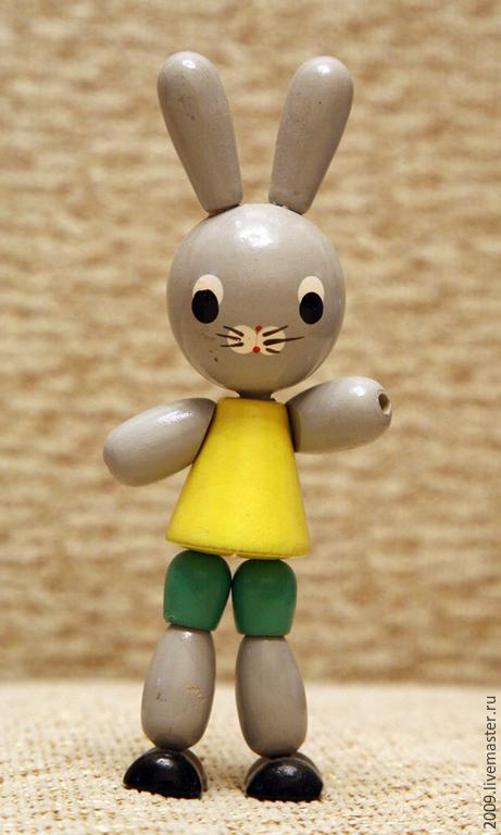 Винтажные куклы и игрушки. Ярмарка Мастеров - ручная работа. Купить деревянные игрушки прошлого века. Handmade. Разноцветный, реставрация