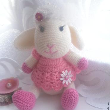 Куклы и игрушки ручной работы. Ярмарка Мастеров - ручная работа овечка  бяшка символ 2015. Handmade.