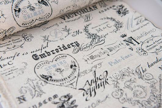 """Шитье ручной работы. Ярмарка Мастеров - ручная работа. Купить Лен """"Викторианский"""". Handmade. Лен, ткань для сумок"""