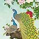 """Животные ручной работы. Ярмарка Мастеров - ручная работа. Купить Схема для вышивки крестом """"Павлины"""". Handmade. Разноцветный, Вышивка крестом"""