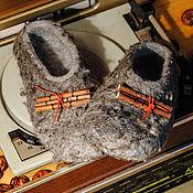 """Обувь ручной работы. Ярмарка Мастеров - ручная работа Валяные тапочки """"Уютная Старая Рига"""". Handmade."""