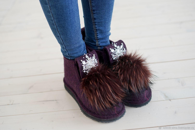 Обувь ручной работы. Ярмарка Мастеров - ручная работа. Купить Валенки ZIMA. Handmade. Угги, обувь из войлока, валенки на подошве