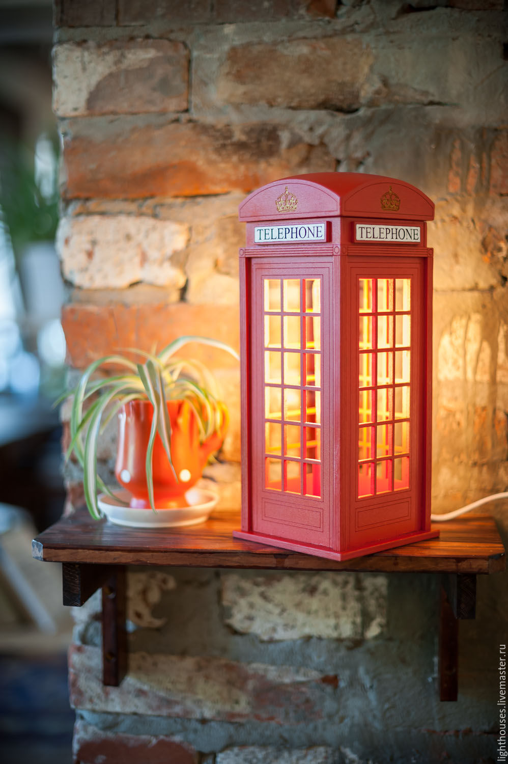 English Phone Booth Lamp Night Light For Home And