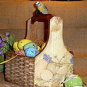 """Подарки к праздникам ручной работы. Ярмарка Мастеров - ручная работа """"Пасхальное лукошко"""". Handmade."""