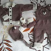 """Работы для детей, ручной работы. Ярмарка Мастеров - ручная работа Вязаный комплект для малыша """" Мишутка"""".. Handmade."""