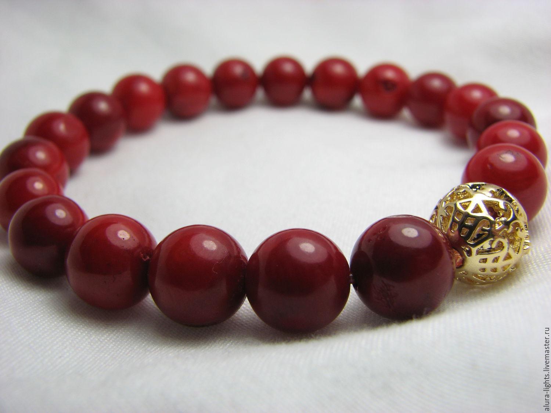 coral bracelet 'frills', Bead bracelet, Moscow,  Фото №1
