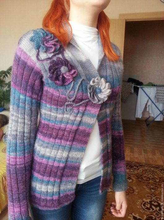 Кофты и свитера ручной работы. Ярмарка Мастеров - ручная работа. Купить кофта женская. Handmade. Кардиган вязаный, подарок женщине
