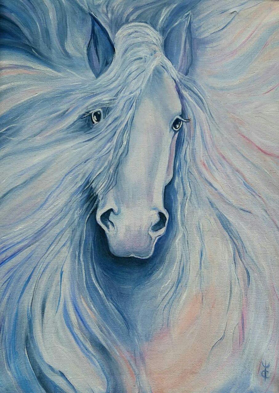 White Horse Oil Painting Zakazat Na Yarmarke Masterov Li3qycom Kartiny Moscow