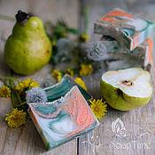 """Косметика ручной работы. Ярмарка Мастеров - ручная работа """"Одуванчик и груша"""" натуральное мыло с нуля. Handmade."""