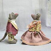 Куклы и игрушки ручной работы. Ярмарка Мастеров - ручная работа Мышки Тильда Бетти и Тед. Handmade.