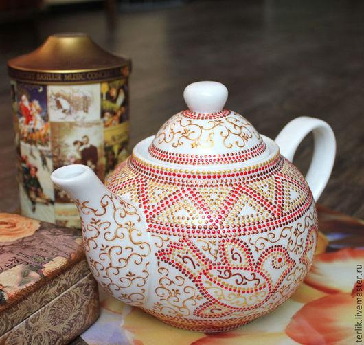 фарфоровый чайник заварочный, подарок на новый год, новогодний подарок, подарок для женщины, подарок на кухню, подарок для хозяйки, подарок к новому году
