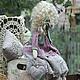 Куклы Тильды ручной работы. Заказать Виолетта, барышня в лиловом.. Элина Шишкина.Тильды и не только... (elina-tilda). Ярмарка Мастеров. Сиреневый