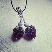 Украшения handmade. Livemaster - original item Silver lampwork earrings. Handmade.