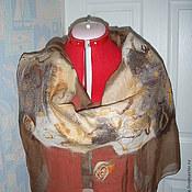 Аксессуары handmade. Livemaster - original item Stole made of silk Autumn. Handmade.