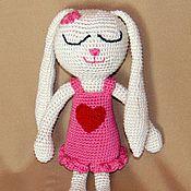 Куклы и игрушки ручной работы. Ярмарка Мастеров - ручная работа Зайка-сплюшка. Handmade.