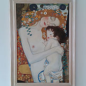 """Картины и панно ручной работы. Ярмарка Мастеров - ручная работа картина маслом. копия . Густав Климт  фрагмент """"три возраста женщины"""". Handmade."""