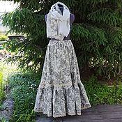 Одежда handmade. Livemaster - original item No. №190 Linen skirt with scarf. Handmade.