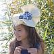 """Шляпы ручной работы. Заказать Коктейльная шляпка """"Les Roses en Denim"""" (Джинсовые розочки). Наталья Прокофьева (la-magie-spb). Ярмарка Мастеров."""