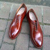 Обувь ручной работы. Ярмарка Мастеров - ручная работа Туфли мужские цельнокроеные. Handmade.