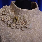 """Одежда ручной работы. Ярмарка Мастеров - ручная работа Пальто-кокон """"Грейс-оверсайз"""". Handmade."""