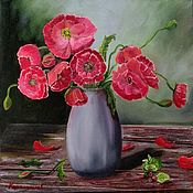 Картины и панно handmade. Livemaster - original item Poppies in a jug. Handmade.