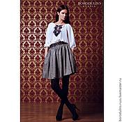 Одежда ручной работы. Ярмарка Мастеров - ручная работа Серая меланжевая юбка. Handmade.