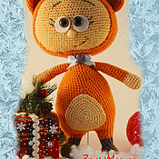 Куклы и игрушки ручной работы. Ярмарка Мастеров - ручная работа вязанная кукла Бонни в костюме лисы. Handmade.