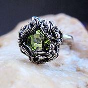 """Украшения ручной работы. Ярмарка Мастеров - ручная работа кольцо с перидотом """"Green star"""" silver. Handmade."""