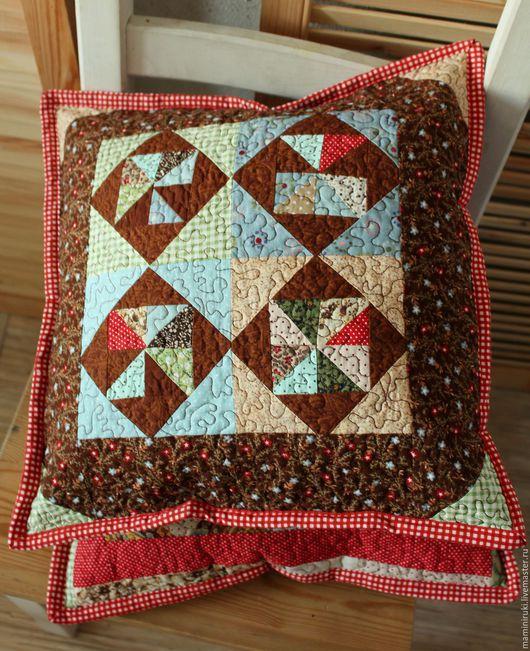 """Текстиль, ковры ручной работы. Ярмарка Мастеров - ручная работа. Купить Лоскутные наволочки """"Кантри"""" декоративные подушки. Handmade."""