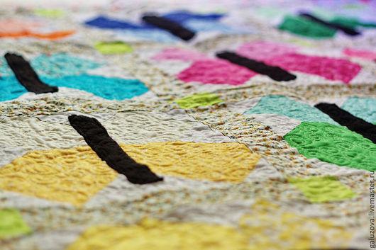 """Пледы и одеяла ручной работы. Ярмарка Мастеров - ручная работа. Купить Лоскутное покрывало """"Бабочки"""". Handmade. Одеяло пэчворк, подарок"""