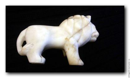 Винтажные предметы интерьера. Ярмарка Мастеров - ручная работа. Купить Антикварный Мраморный лев 30 е годы. Handmade. Белый